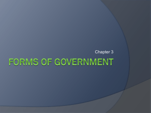 Chapter 3 Forms of Government