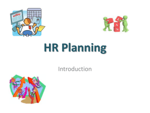 Definition of HR planning