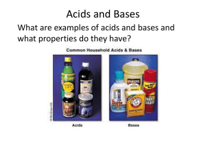 Acids and Bases - Mr. Sault's Classroom