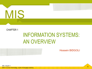 Chapter 1 Information Systems: An Overview