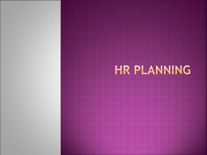 HR Planning - kau.edu.sa