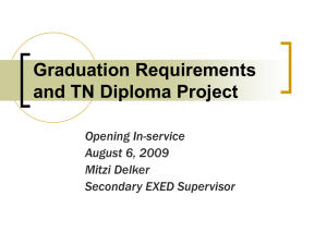 Graduation Requirements and TN Diploma Project