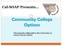 Transfer Options - San Diego and Imperial Counties Cal-SOAP