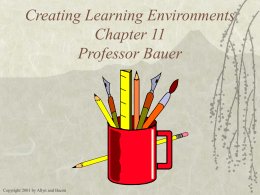 PowerPoint Presentation - Classroom Management Chapter 11