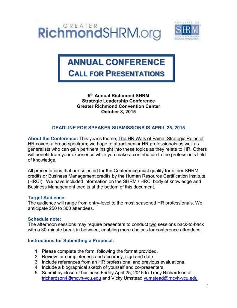 How Did You Receive This Call For Presentation