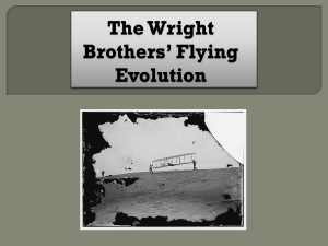 The Wright Brother's Flying Evolution lesson plan