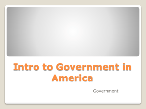 Intro to Government in America