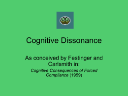 Cognitive Dissonance Presentation