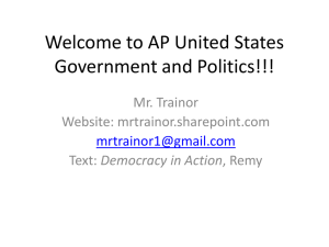 Welcome to AP United States Government and Politics!!!