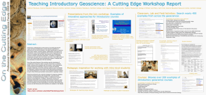 Teaching Introductory Geoscience: A Cutting Edge Workshop Report