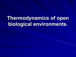 Thermodynamics of open biological environments. Heat and