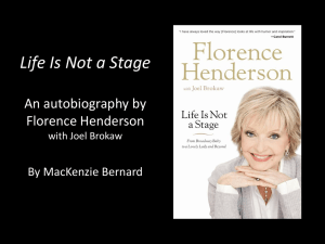 Biography of Florence Henderson By MacKenzie Bernard