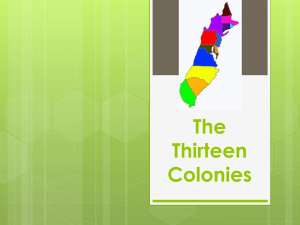 Introduction to the 13 Colonies and Regions (ppt)