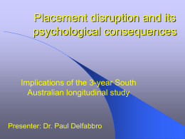 Placement disruption and psychological outcomes