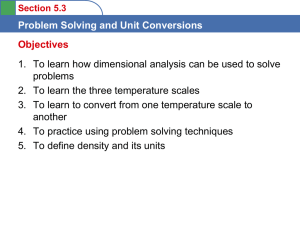 Chapter 5: Problem Solving and Unit Conversions