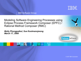 IBM Rational Software Agile Development Offering Effective agility at