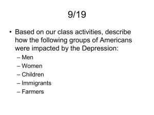 The Great Depression - Somerville Public School District