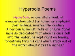 Hyperbole Poems - Cloudfront.net