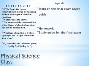 Physical Science Class Daily Agenda