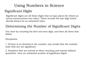 Chapter 3 Using Numbers in Science B