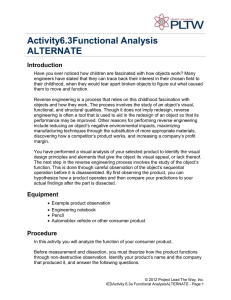 Activity 6.3A Functional Analysis ALTERNATE