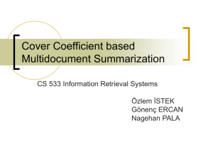 Multi-document text summarization