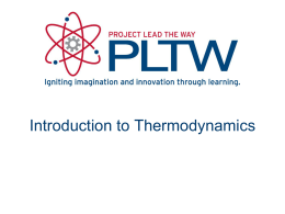 Thermodynamics - Davis School District