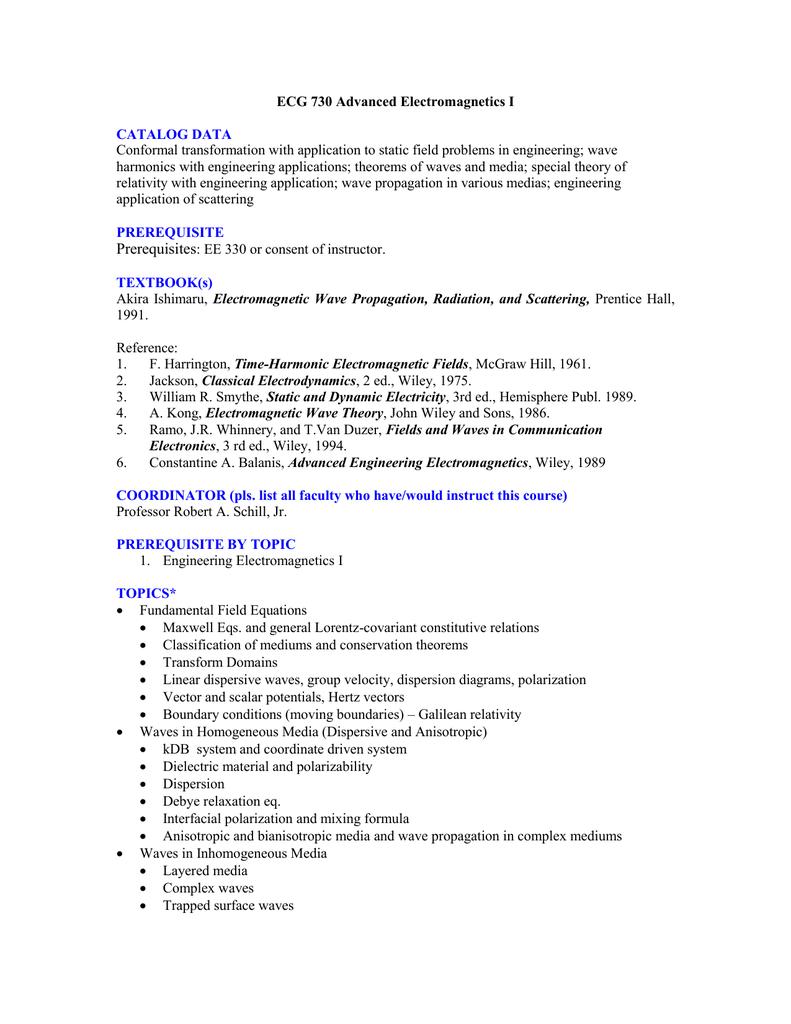 Graduate Course Descriptions