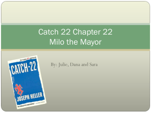 Catch 22 Chapter 22 Milo the Mayor