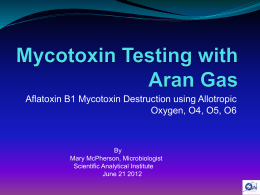 Mycotoxin Testing with Aran Gas