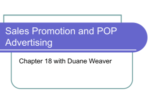 Sales Promotion and POP Advertising