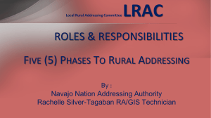 5 phases to Rural Addressing