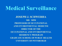 Medical Surveillance in Occupational Health