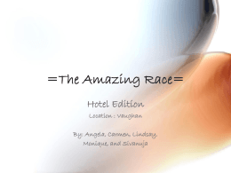 The Amazing Hotel Race