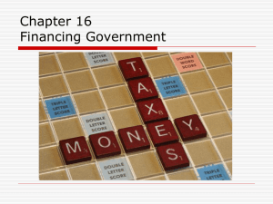 Chapter 16 Financing Government