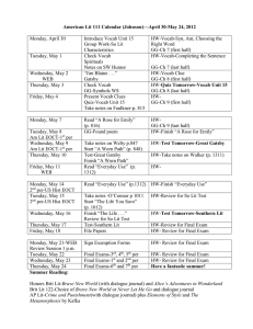 American Lit 111 Calendar (Johnson)—April 30