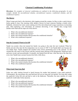Classical Conditioning Worksheet