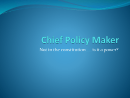 PPChief Policy domestic