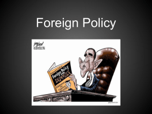 Foreign Policy Power Point ForeignPolicy