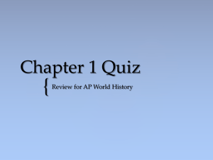 Chapter 1 Quiz - Ms. Sheets' AP World History Class