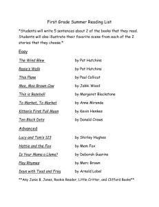 Second Grade Reading List - Most Pure Heart of Mary School