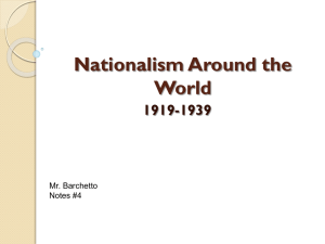 Nationalism Around the World 1919-1939