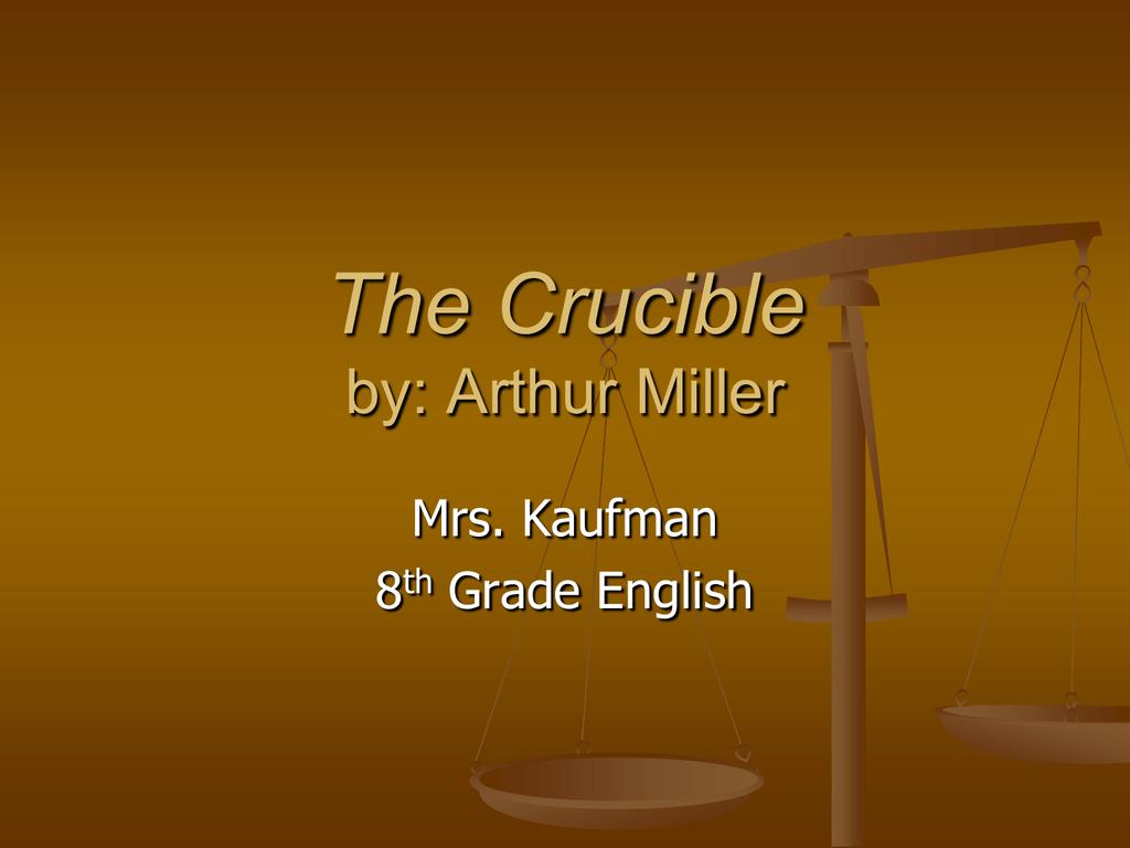 the crucible summary