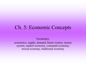Ch. 5: Economic Concepts