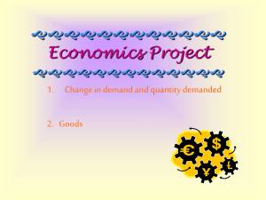 Change in demand and quantity demanded & Types of goods