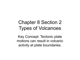 Chapter 8 Section 2 Types of Volcanoes
