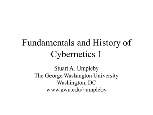 Influences on the Cybernetics Movement in the US