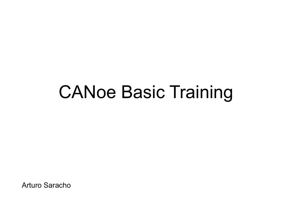CANoe Basic Training - Software Engineering   CANoe Basic