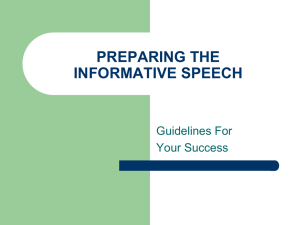 6. **Preparation of your Speech