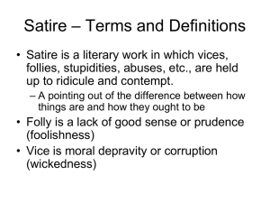 Satire – Terms and Definitions